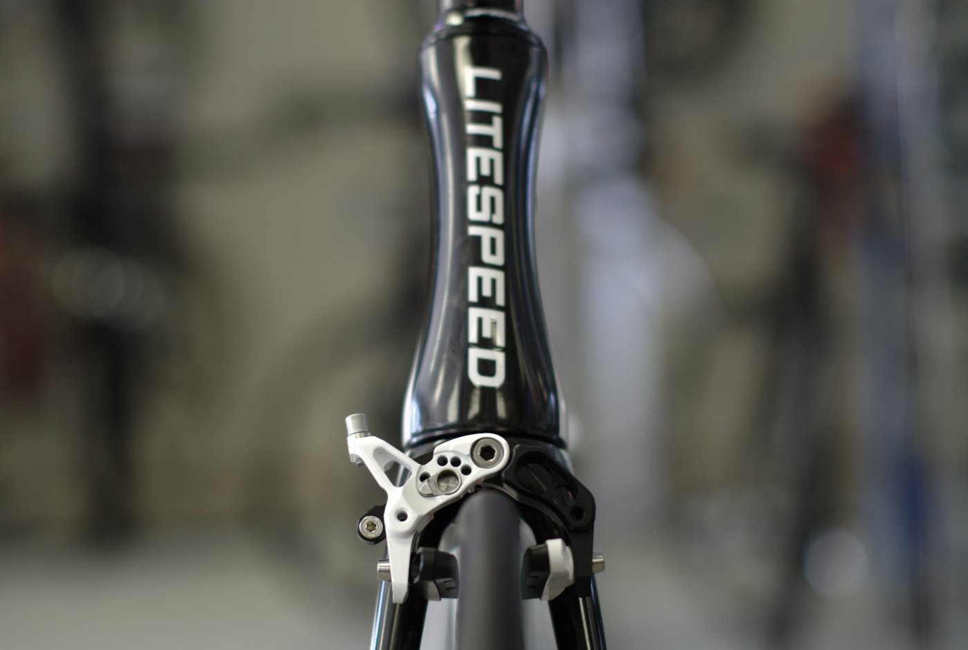 Litespeed C1 Aero Headtube and Ciamillo GSL tiranium brakes